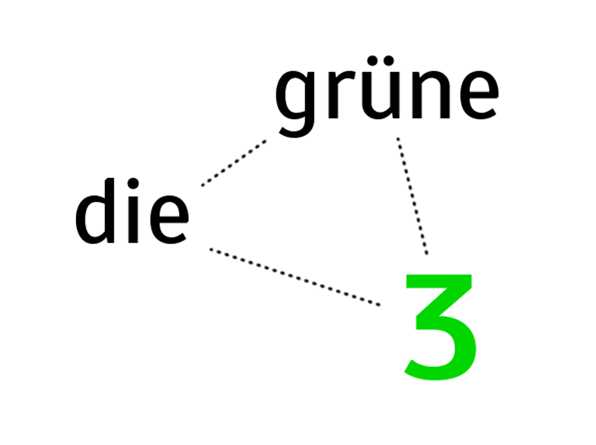 "Who the fuck is ""die grüne 3""?"