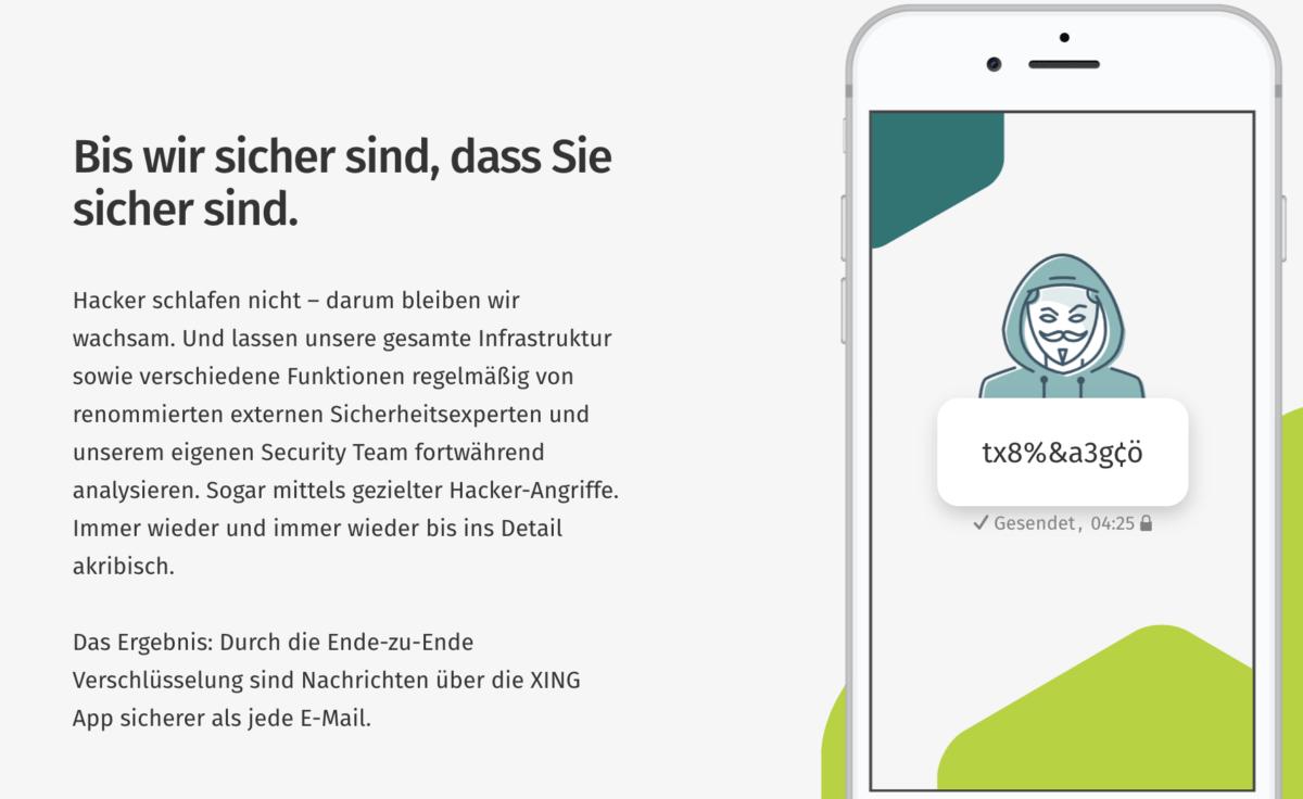Saftey First? Verschlüsselte Nachrichten in der XING App
