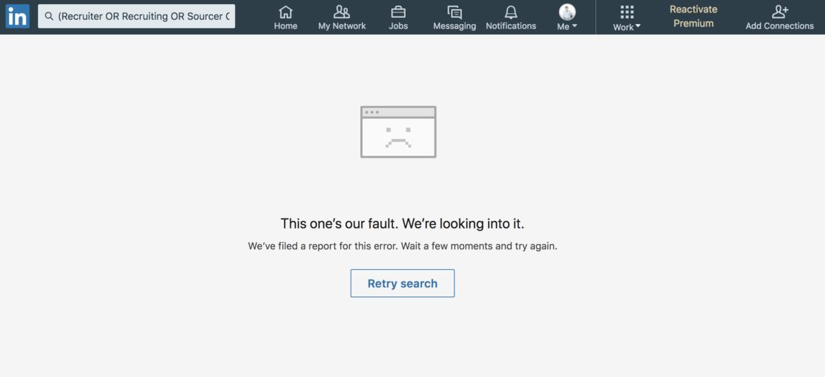LinkedIn schränkt die Boolesche Suche im Basis-Account ein
